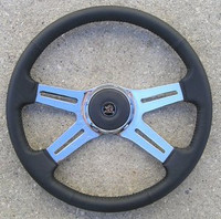 "STEERING WHEEL 18"" LEATHER 4-SPOKE"