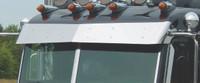 Peterbilt Ultra Cab Regular Drop Bow-Tie Visor 2002-2005 with Door Mounted Mirrors