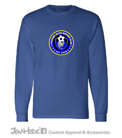 Royal Champion Long Sleeve Cotton T-Shirt with Chicago Inter circle logo