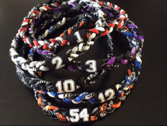 "Bulk order for 200 customizable 20"" Braided 3-Rope Sport Necklaces with Jersey Numbers!"