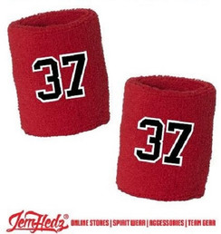 One Pair of Wristbands with Jersey Number