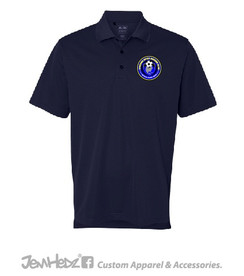 Navy Adidas ClimaLite Polo with embroidered Chicago Inter circle logo