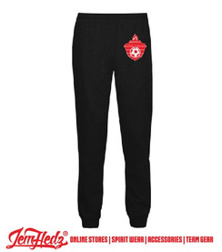 Black Badger Athletic Fleece Joggers with Olympic Soccer logo on left hip