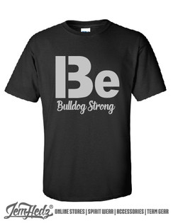 Black Short Sleeve T-Shirt with Bulldog Strong logo on front