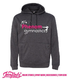Black Unisex Cosmic Hoodie with Phenom Gymnastics star logo