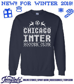 LIMITED EDITION Chicago Inter Navy Winter Crewneck Sweatshirt