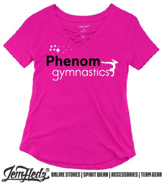 Pink Cage Front Short Sleeve T-Shirt with Phenom star logo