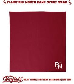 Cardinal Red Fleece Blanket with P/N logo in standard print