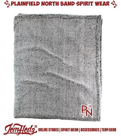 Boxercraft Light Grey Sherpa Blanket with P/N embroidered logo