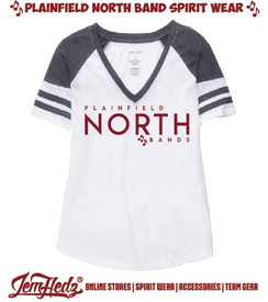 Grey/White Boxercraft Ladies' Arena Tee with North Band logo on front