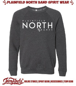 Bella + Canvas Grey crewneck sweatshirt with North Band logo on front