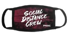 PNXC Social Distance Crew Maroon/Black Face Mask