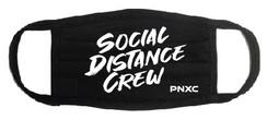 PNXC Social Distance Crew Black Face Mask