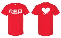 Red Short Sleeve T-Shirt for Wilson Creek Brannon Family