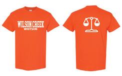 Orange Short Sleeve T-Shirt for Wilson Creek Whitson Family