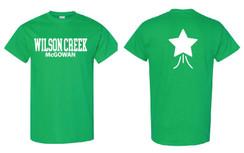 Green Short Sleeve T-Shirt for Wilson Creek McGowan Family