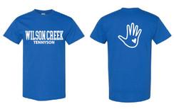 Royal Blue Short Sleeve T-Shirt for Wilson Creek Tennyson Family
