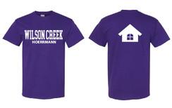 Purple Short Sleeve T-Shirt for Wilson Creek Hoerrmann Family