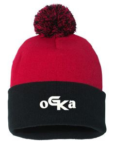 Red & Black Beanie with embroidered OGKA logo