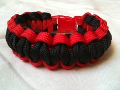 Black with Red Edge Paracord Bracelet