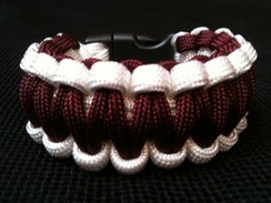 Maroon with White Edge Paracord Bracelet