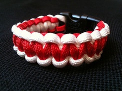 Red with White Edge Paracord Bracelet