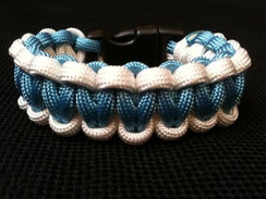 Carolina Blue with White Edge Paracord Bracelet