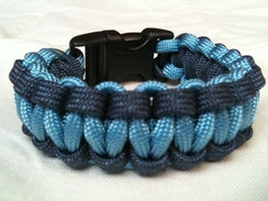 Carolina Blue with Navy Edge Paracord Bracelet