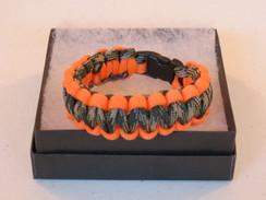 Woodland Camo with Orange Edge Paracord Bracelet