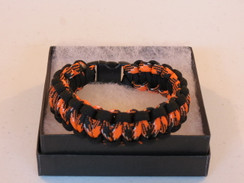 Orange/Black Camo with Black Edge Paracord Bracelet