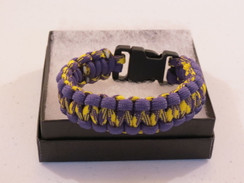 Purple/Yellow Camo with Purple Edge Paracord Bracelet