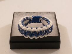Royal Blue/White Camo with White Edge Paracord Bracelet