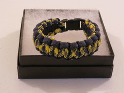 Yellow/Black Camo with Black Edge Paracord Bracelet