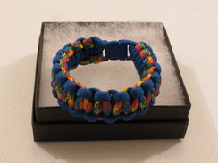 Rainbow Camo with Royal Edge Paracord Bracelet