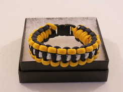 Navy with Yellow Edge Glitter Paracord Bracelet