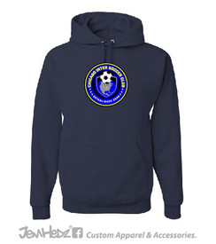 Navy Hooded sweatshirt with Chicago Inter circle logo