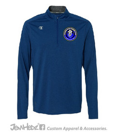 Royal Champion 1/4 zip Vapor Pullover with Chicago Inter circle logo