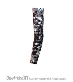 Black//Grey/White Digital Camo Arm Sleeve