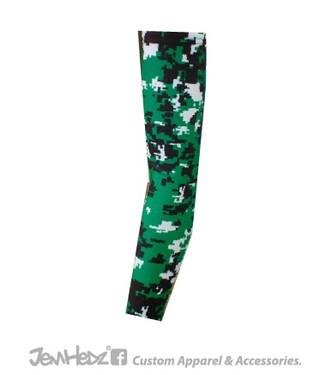 Green/Black/White Digital Camo Arm Sleeve