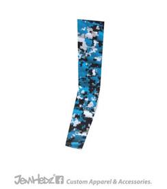 Light Blue/Black/White Digital Camo Arm Sleeve