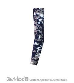 Navy/Grey/White Digital Camo Arm Sleeve