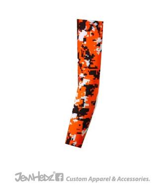 Orange/Black/White Digital Camo Arm Sleeve