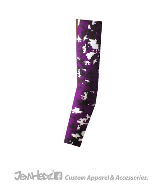 Purple/Black/White Digital Camo Arm Sleeve