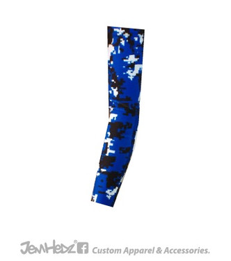 Royal/Black/White Digital Camo Arm Sleeve