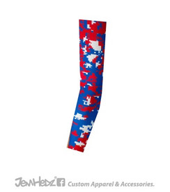 Red/Royal/White Digital Camo Arm Sleeve