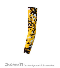 Yellow/Black/White Digital Camo Arm Sleeve