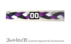 Purple/Black/White Headband