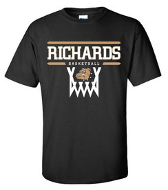 Short Sleeve T-Shirt with Richards Basketball logo on front in standard print