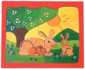 Wooden Puzzle - Rabbits
