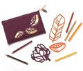 Art Stencils & Pencils Set - Forest